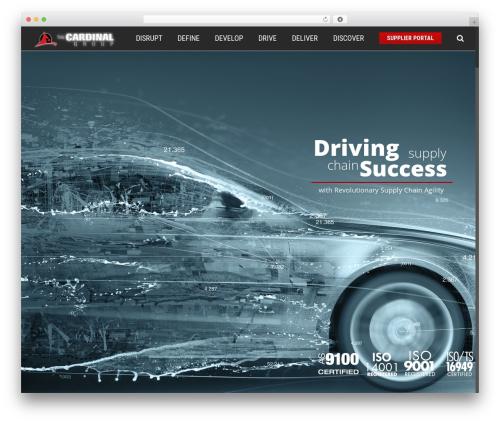 Avada WordPress theme design - thecardinalgroupindustries.com