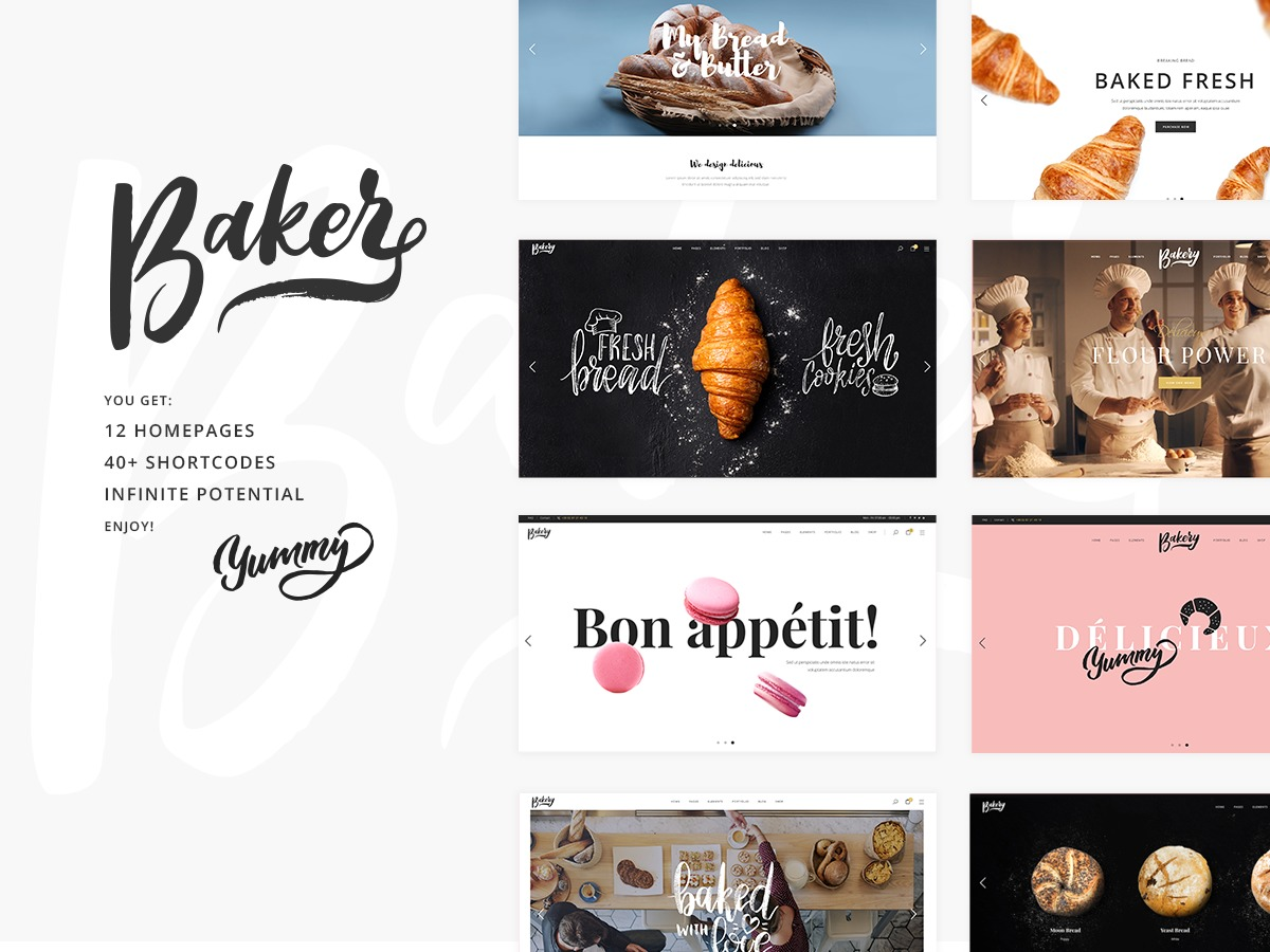 Baker Child template WordPress