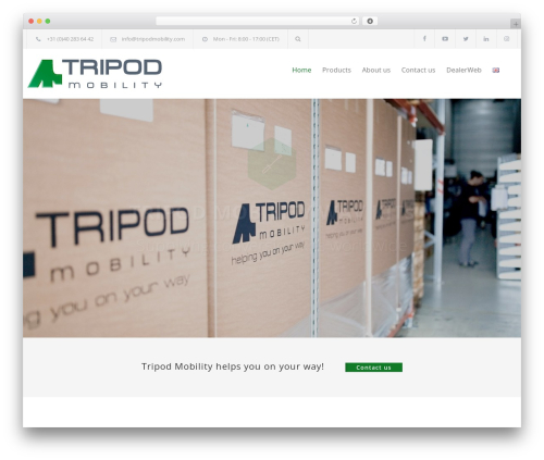 Carservice WordPress template - tripodmobility.com