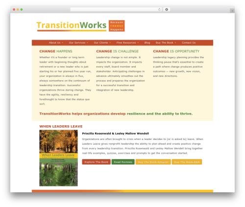 Child of Toolset Bootstrap best WordPress template - transitionworks.com