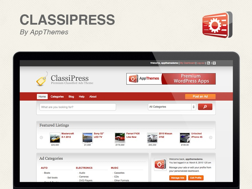 Classipress Child theme WordPress