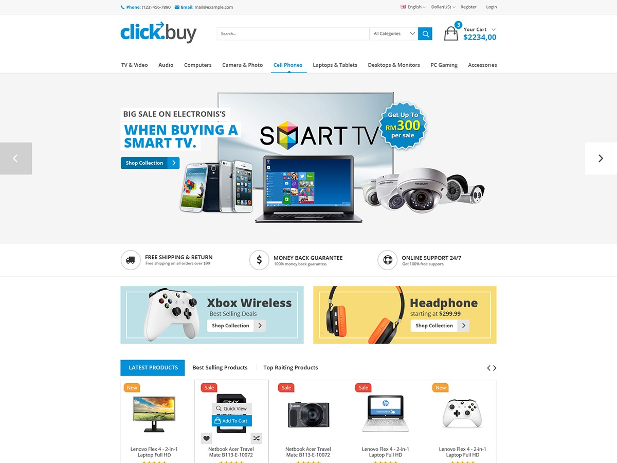 Clickbuy best WooCommerce theme