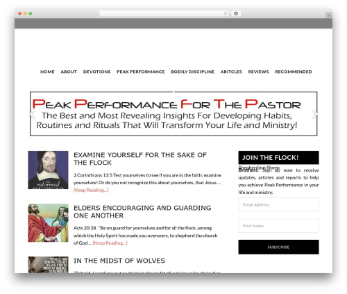 Daily Dish Pro Theme WordPress page template - thepastorreformed.com