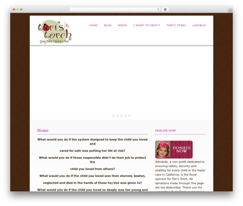 Dandelion template WordPress - toristorch.org