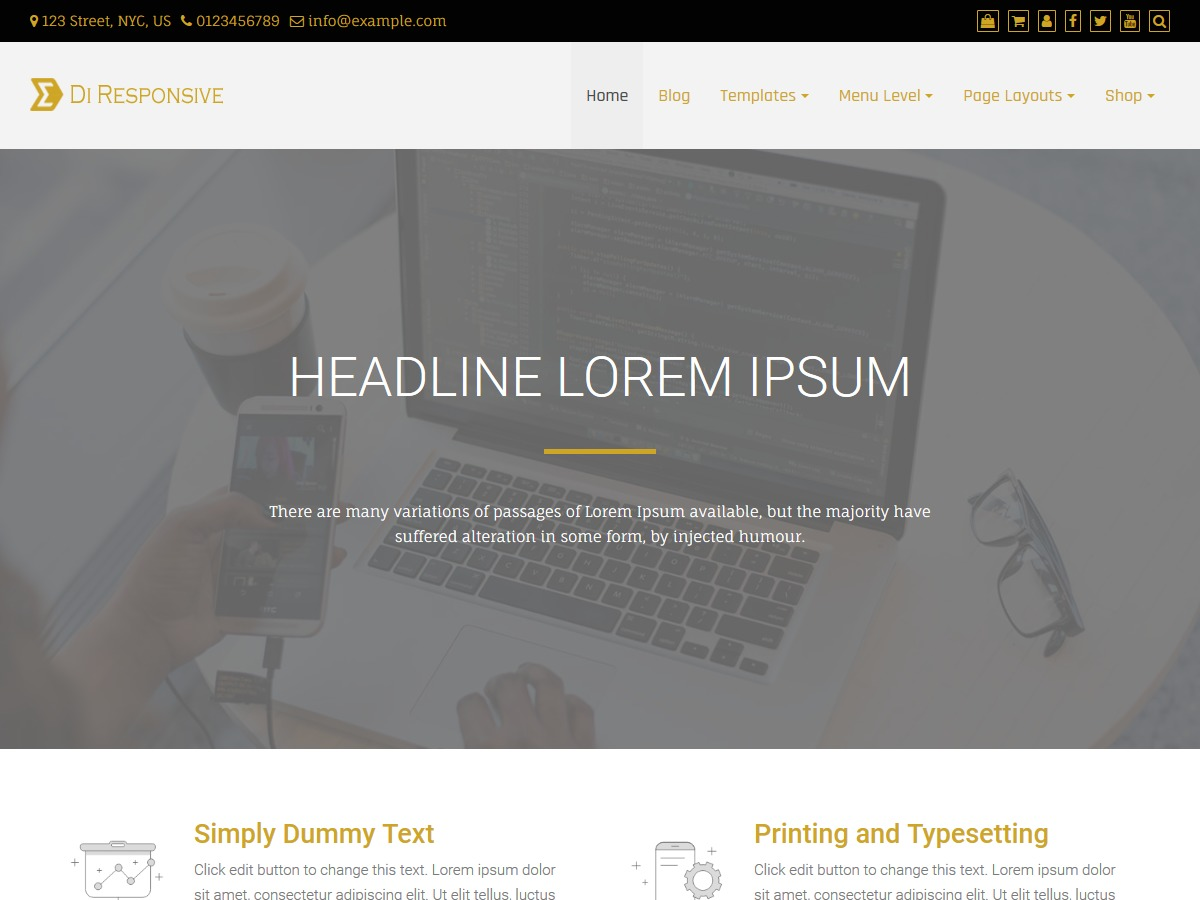 Di Responsive WordPress blog template
