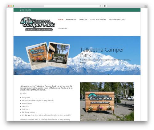 Divi top WordPress theme - talkeetnacamper.com