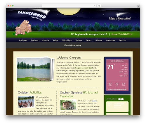 Dynamik-Gen top WordPress theme - tanglewoodcamping.com