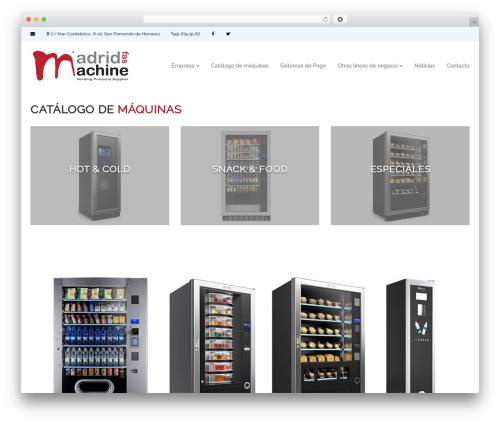 Flash WordPress page template - madridfasmachine.es