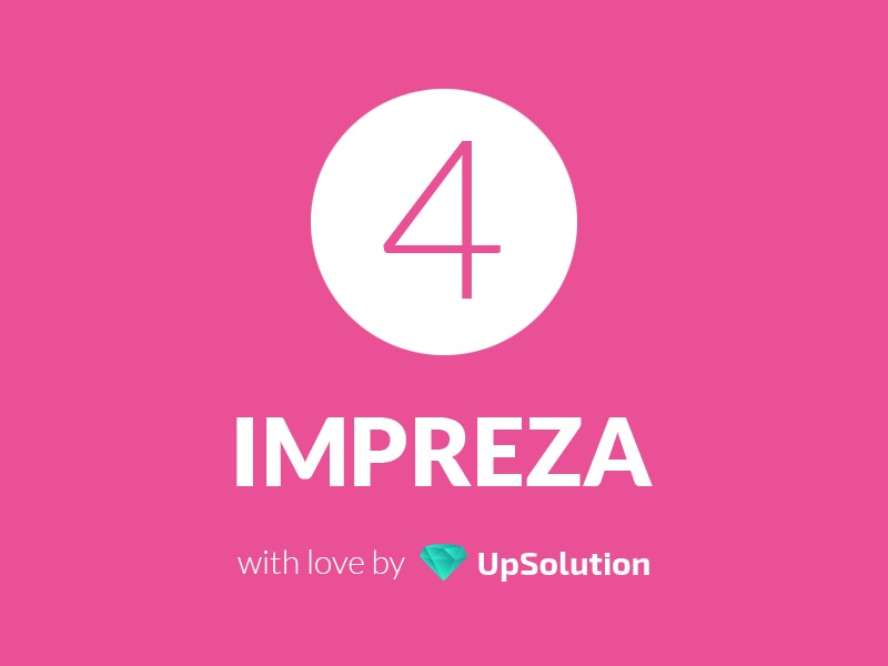 Impreza WordPress page template