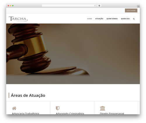 Lawyer-Pro WordPress page template - tarcha.adv.br
