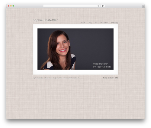 MiniFolio WordPress video theme - test.moderatorin.ch