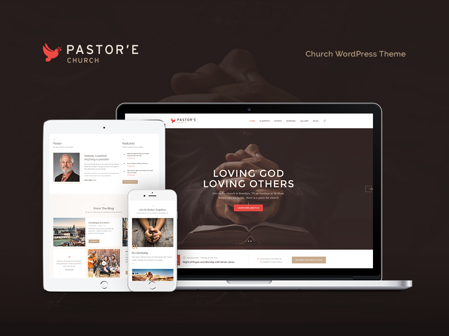 Pastore Church WordPress shopping theme