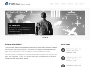 Performs business WordPress theme