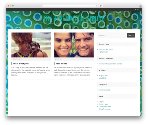 Perkins WordPress page template - therealnataliestrong.apps-1and1.com