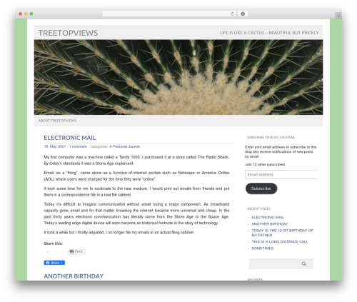 picolight premium WordPress theme - treetopviews.com