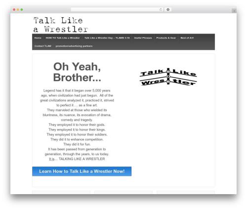 Responsive WordPress theme design - talklikeawrestler.com