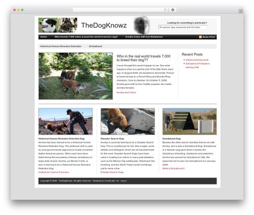 Revolution WordPress website template - thedogknowz.com