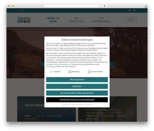 Salient WordPress travel theme - travel-to-grow.com
