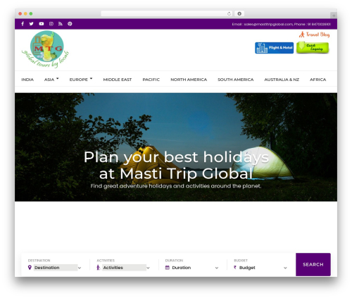 Travel Agency Pro WordPress travel theme - mastitripglobal.com