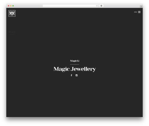 WordPress template Brama - magiclijewelry.com