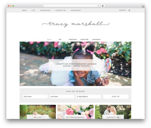 WordPress theme Charlotte - tracymarshallphotography.com