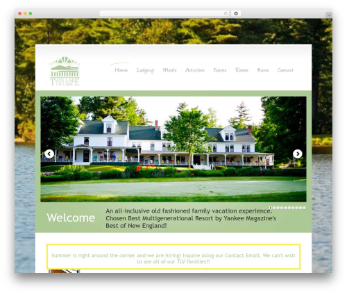 WordPress Theme Number best hotel WordPress theme - twinlakevillage.com