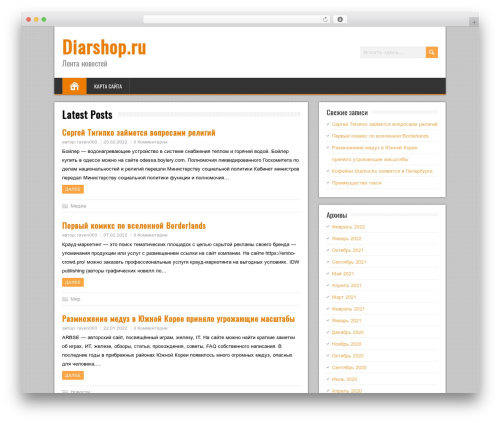BrickYard WordPress store theme - diarshop.ru