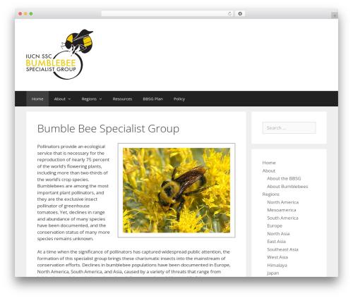 GeneratePress WordPress theme download - bumblebeespecialistgroup.org