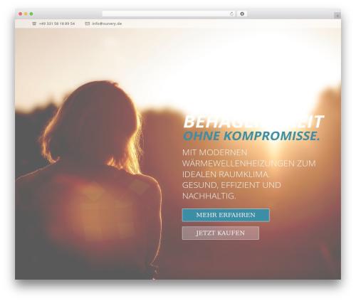 Jupiter WordPress theme - sunery.de