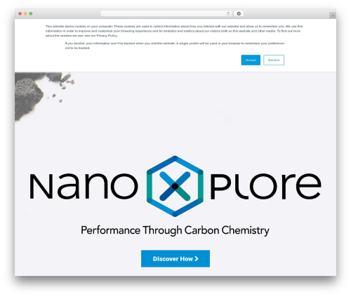 Mint WordPress theme - nanoxplore.ca