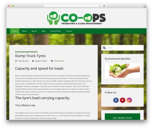 Sixty template WordPress free - co-ops.net.au