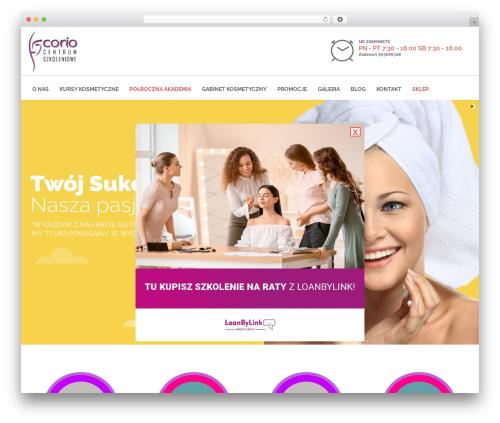 Skilled WordPress theme - coriocs.pl