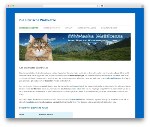 Theme WordPress Twenty Twelve - sibirische-waldkatze.info