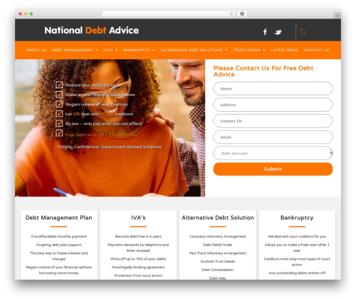 Advisor top WordPress theme - national-debt-advice.co.uk