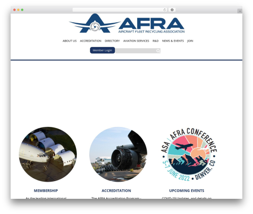 Afra top WordPress theme - afraassociation.org