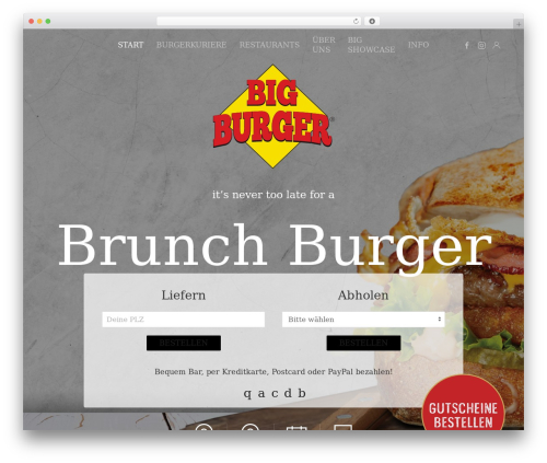 WordPress woocommerce_postfinancecw plugin - bigburger.ch