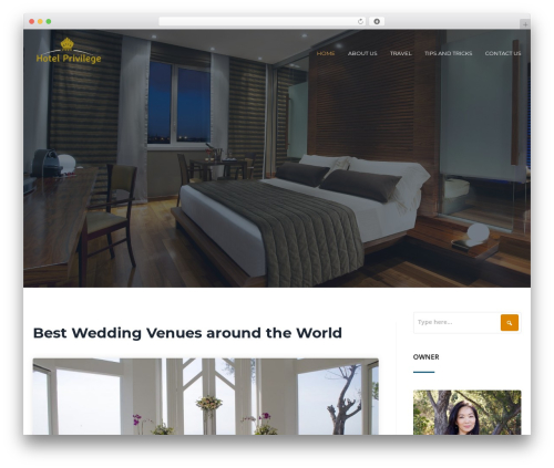 Cronus WordPress theme - hotelprivilege.fr