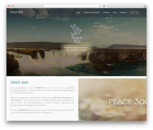 Etudes theme WordPress - peace300.org