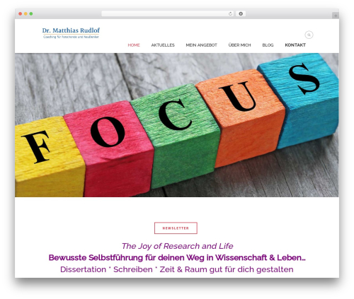 Extent WordPress website template - dr-matthias-rudlof.de