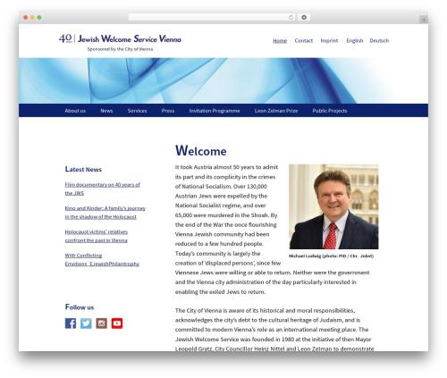 Genesis template WordPress - jewish-welcome.at