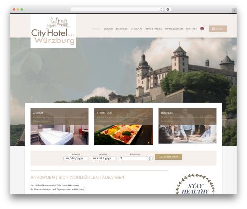 Hotec best WordPress theme - cityhotel-wuerzburg.de