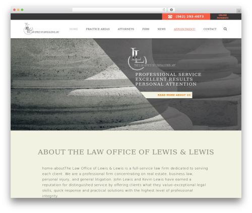 Law Office WordPress theme - lewislaw.info