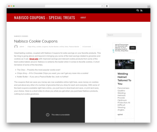 Magazine WordPress news theme - nabiscocoupons.org