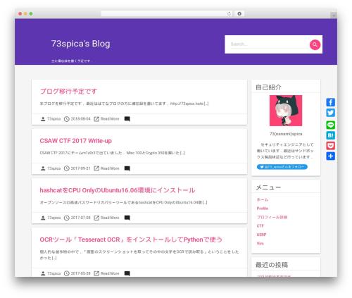 Material Lite WordPress blog template - 73spica.tech