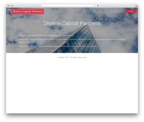 Modular WordPress theme design - skyline-capital.ru