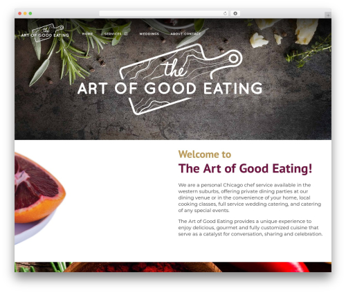 Niku WordPress theme - theartofgoodeating.org