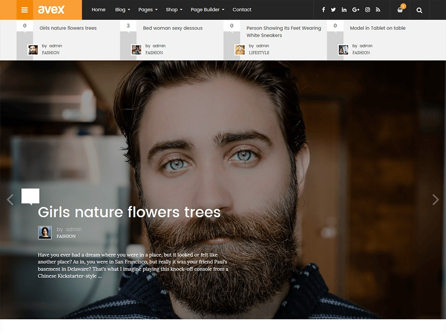 Theme WordPress Avex
