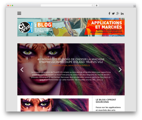 Wp Contented WordPress blog theme - cprint-sourcing.news