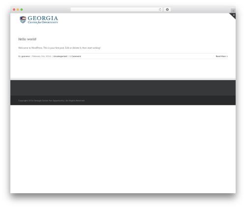 Avada WordPress theme design - gconews.org