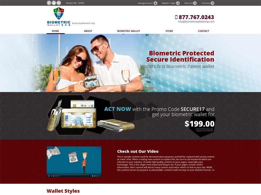 biometricwallet WP template